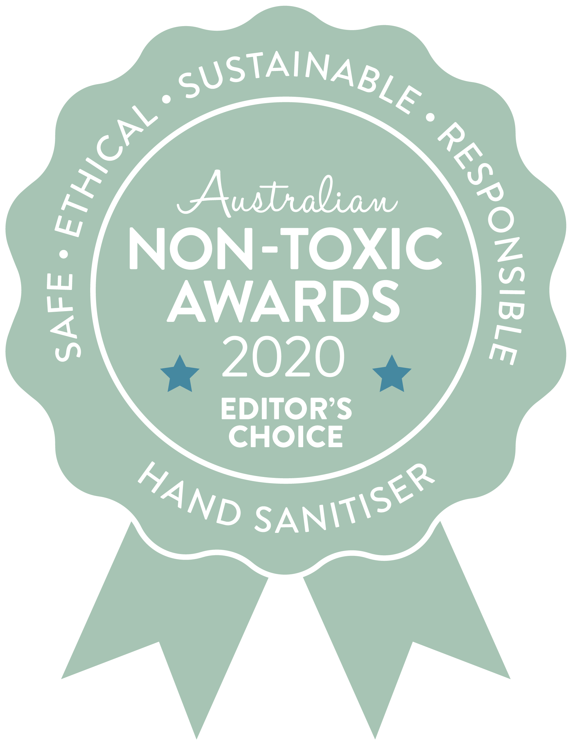 Australian Non-toxic Awards 2020 Editor's choise Hand Sanitiser