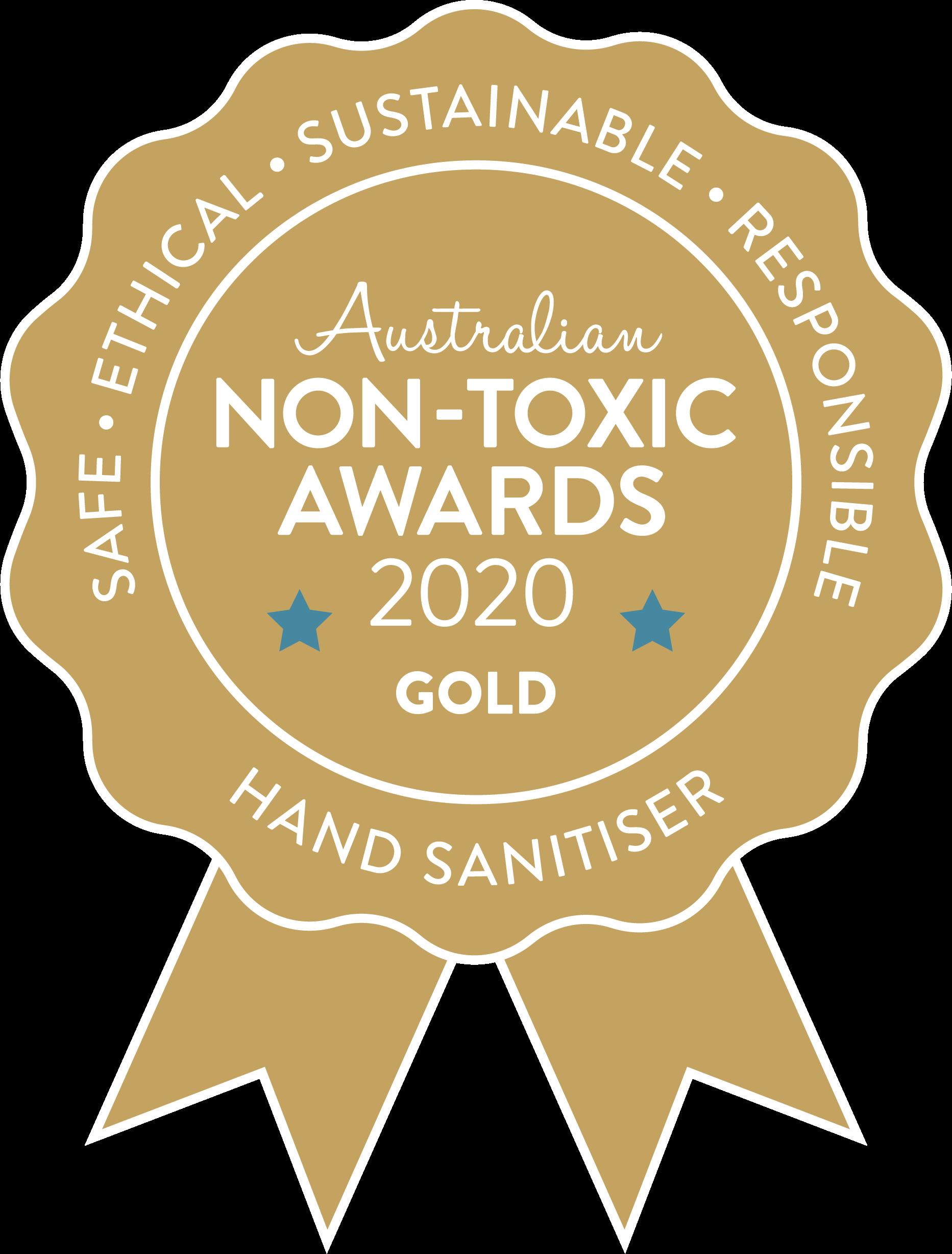 Australian Non-toxic Awards 2020 Gold Hand Sanitiser