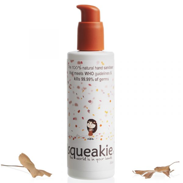 Squeakie, the 100% natural hand sanitiser